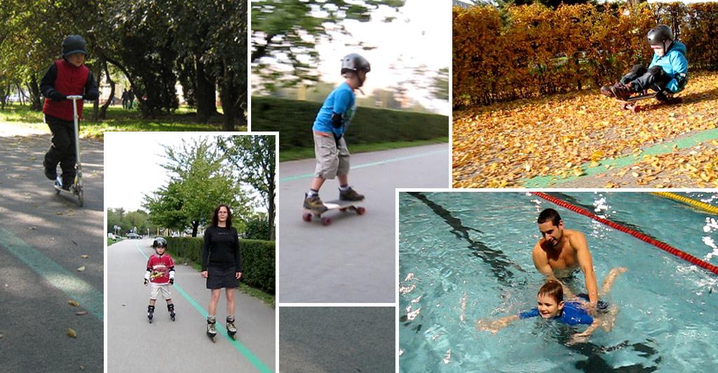 Plávanie, skejtbordovanie a korčuľovanie s autizmom